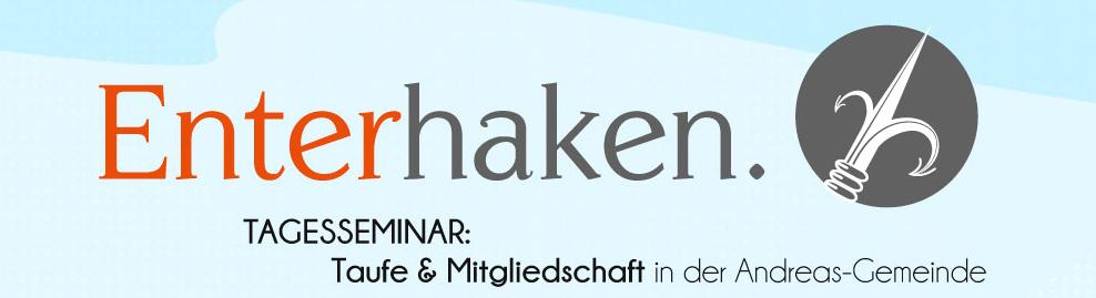 Enterhaken-Banner